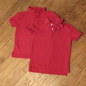 2- Boy's Cat and Jack Red Uniform polos size 4/5